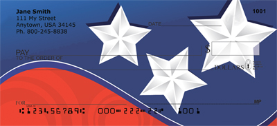 Crazy Patriotism Personal Checks