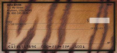 Wild Animal Prints Personal Checks