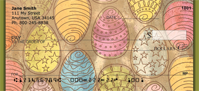 Ornate Egg Art Personal Checks