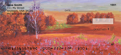 Fall Landscape Painting Personal Checks