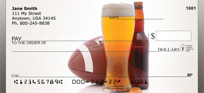 Sporting A Beer Personal Checks