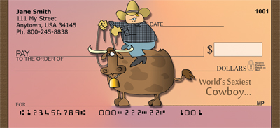 Bull Riding Tough Personal Checks