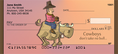 Bull Riding Tough Personal Checks - 4