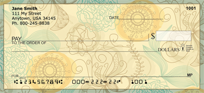 Funky Florals Personal Checks