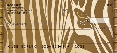 Animal Print With Faces Personal Checks
