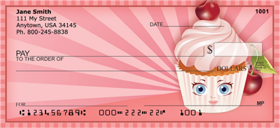 Sweet Cupcakes Personal Checks