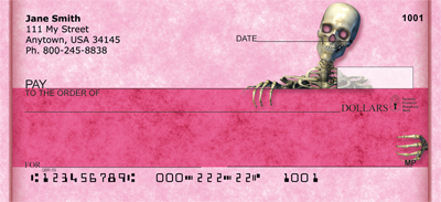 Girly Skull Fun Personal Checks