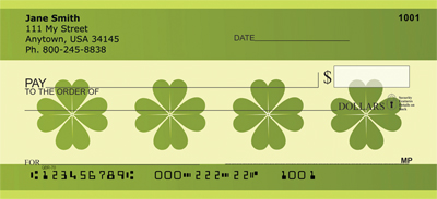Lucky Clover Personal Checks