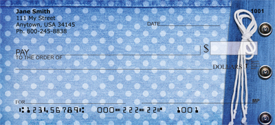 Denim and Dots Personal Checks