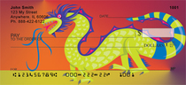 Colorful Asian Symbols Personal Checks