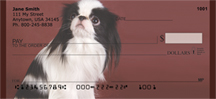 Black And White Japanese Chin Personal Checks