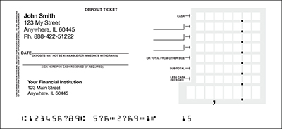 Personal Deposit Slips - Save 50% On All Personal Deposit Slips