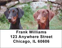 Doberman Address Labels