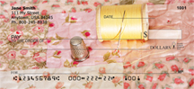 Pink Rose Quilt Personal Checks