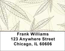 Weed Camo Address Labels