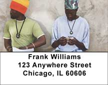 Rasta Man Address Labels