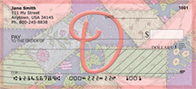 Shabby Chic Monograms - D Personal Checks
