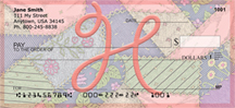 Shabby Chic Monograms - H Personal Checks