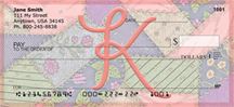 Shabby Chic Monograms - K Personal Checks