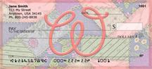 Shabby Chic Monograms - W Personal Checks