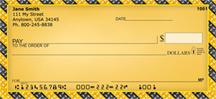 One For The Road - Diamondplate Personal Checks