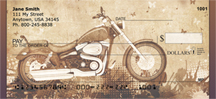 Golden Classic Motorcycle Personal Checks
