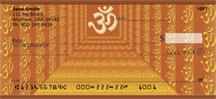 The Om Symbol Personal Checks