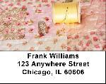 Pink Rose Quilt Address Labels