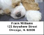 Sleepy Cocker Spaniel Puppy Address Labels