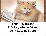 Smart Pomeranian Pooch Address Labels