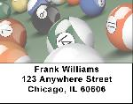 Billiard Balls Address Labels