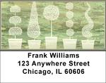 Topiary Tree Abstracts Address Labels
