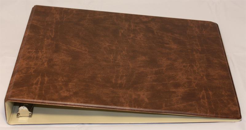 Business Checkbook Covers ~ Brown deskset checkbook cover