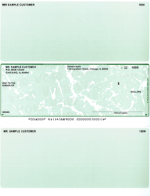 Green Marble Laser Business One Per Page Voucher Checks - Middle Style