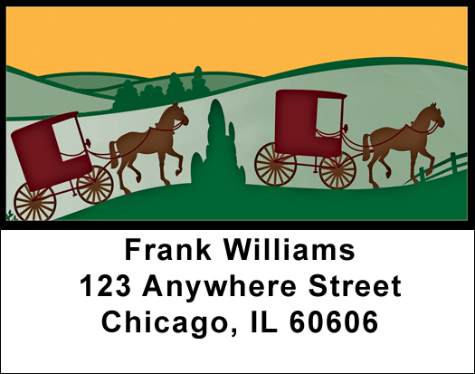 Horse And Buggy Labels Horse And Buggy Address Labels At