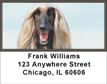 Afghan Hound Address Labels