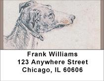 Greyhound Impressions Address Labels