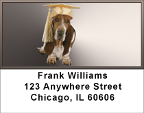 Basset Hound Fantasy Address Labels