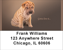Gotta Love The Shar Pei Address Labels