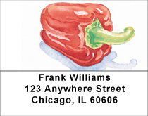 Veggies Address Labels