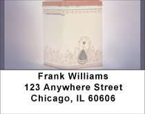 Vintage Canisters Address Labels