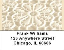 White Lace Address Labels