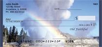 Old Faithful At Yellowstone Personal Checks