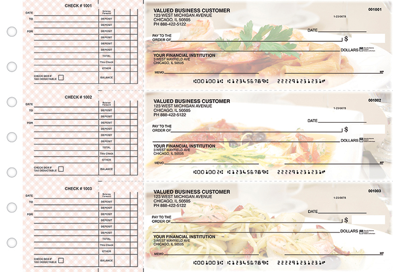 Italian Favorites Accounts Payable Business Checks