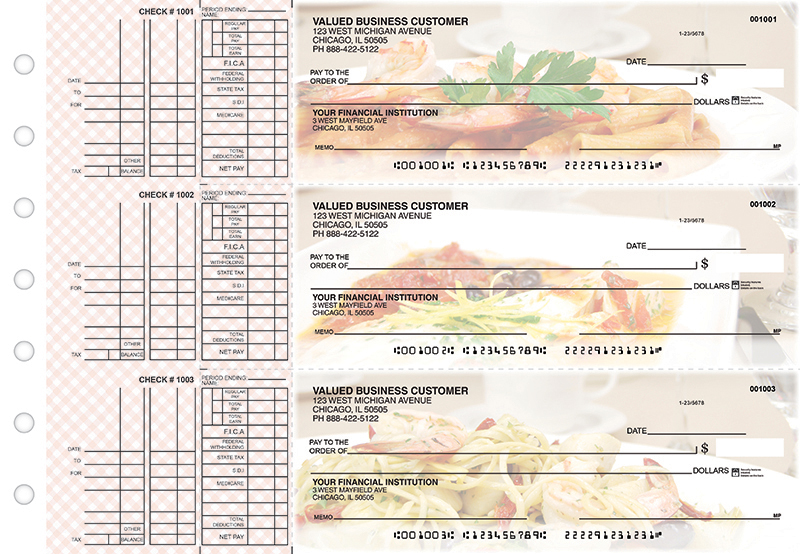 Italian Favorites Multi Purpose Business Checks