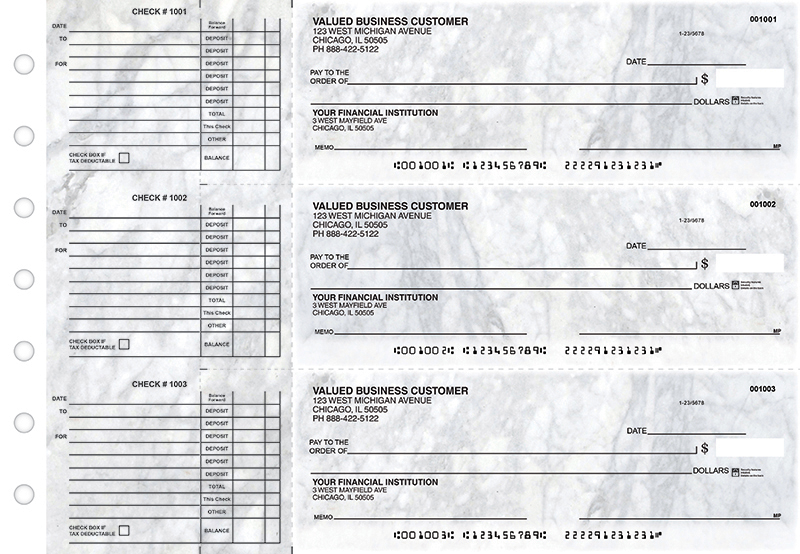 Classic Marble Accounts Payable Business Checks