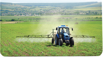 Tractor Cloth Checkbook Cover